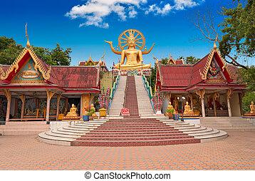 Gran estatua de Buddha en la isla Koh Samui