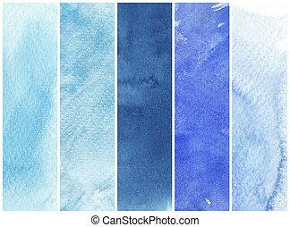 Gran fondo de acuarela. Pintura acuarela en un papel de textura