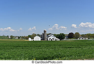 Gran granja de Lancaster en Pennsylvania