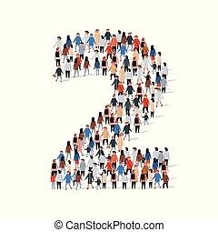 Gran grupo de personas en el número 2