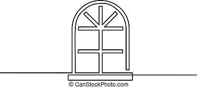 Gran icono de la ventana en el fondo blanco