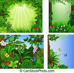 Gran marco de icono, hermosa ilustración de vectores tropicales