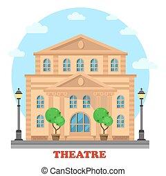 Gran teatro o construcción para entretenimiento