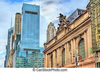 Gran terminal central en Manhattan, Nueva York