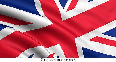 grande, bandera, gran bretaña