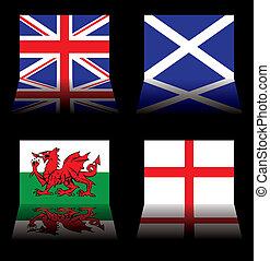 grande, banderas, gran bretaña