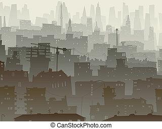 grande, dusk., ciudad