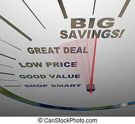 grande, medidas, -, cómo, ahorros, excepto, velocímetro
