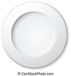 grande, placa, cena, borde