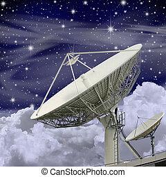 grande, plato, satélite