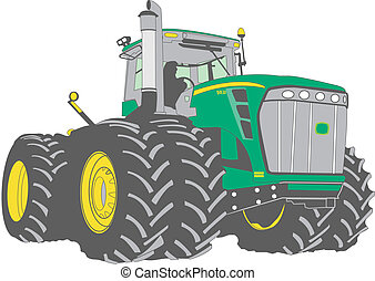 grande, tractor de la granja