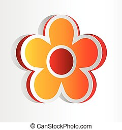 grande, tridimensional, floral