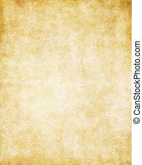 grande, viejo, textura, papel, plano de fondo, pergamino