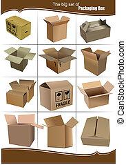 Grandes cajas de embalaje de cartón