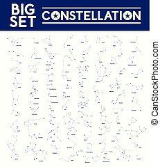 Grandes constelaciones, ilustración vectorial