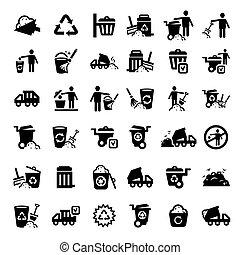 Grandes iconos de la basura listos