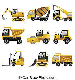 Grandes iconos de vehículos de construcción