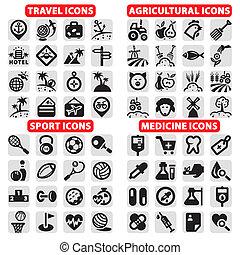Grandes iconos del vector