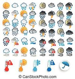 Grandes iconos establecidos día y noche clima