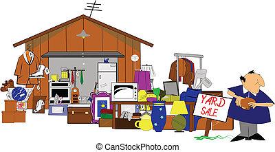 Grandes jardines y venta de garaje