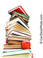 Grandes libros aislados en blanco
