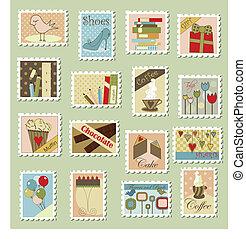 Grandes sellos de correo