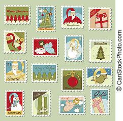 Grandes sellos postales de Navidad
