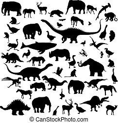 Grandes siluetas de animales