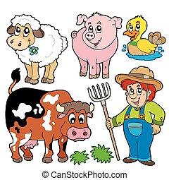 granja, caricaturas, colección