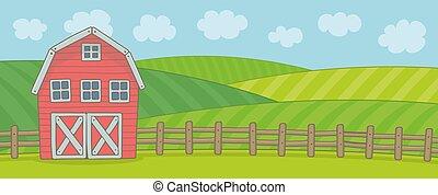 granja, paisaje