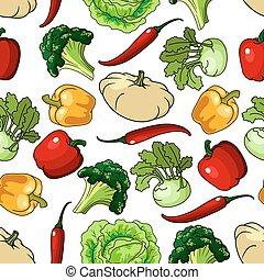 Granjas saludables de vegetales sin costura