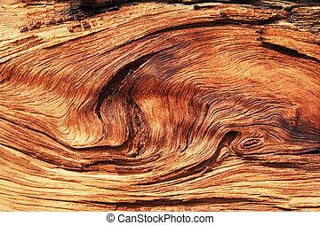 grano de madera, torcido