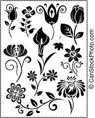 Graphis-design de flores-vector