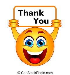 gratitud, agradecer, señal, nota, gracias, expresar, usted