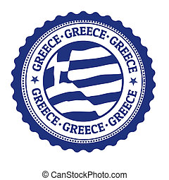 Grecia sello o etiqueta