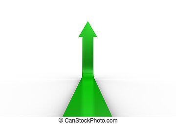 Green Arrow apuntando hacia arriba