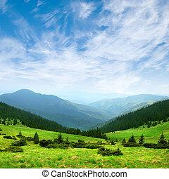Green Mountain Valley y Sky