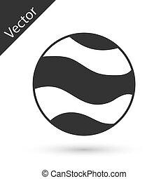 gris, blanco, vector, planeta, icono, fondo., aislado