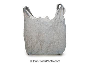 gris, bolsa plástica