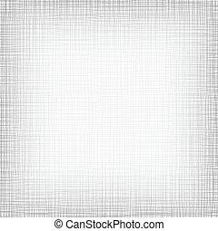 gris, ilustración, vector, linen., plano de fondo, blanco, threads.