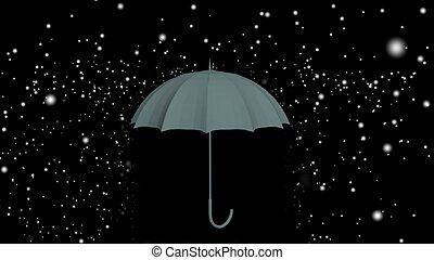 gris, paraguas, plano de fondo, gotas de lluvia, debajo, 3d, negro, ilustración, blanco