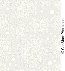 gris, patrones, tela, elegante, diseño, contrastar, garabato, plano de fondo, flor, dibujo, bajo, blanco, textil, motivo, seamless, dechado, luz