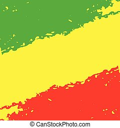 Grunge abstracto pintado fondo de textura rayado. vector EPS10 ilustración reggae colores verde, amarillo, rojo