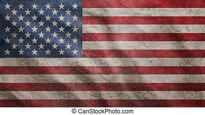 Grunge arrasó la bandera de Estados Unidos