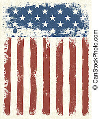 Grunge de la bandera americana. Ilustración del vector, EPS 10.