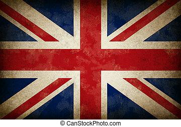 Grunge gran bandera británica