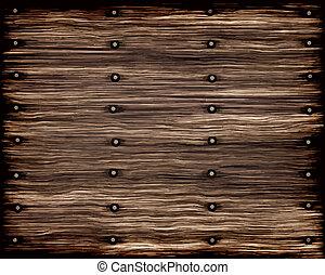 grunge, madera, viejo, tablones