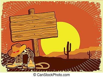 .grunge, ocaso, occidental, plano de fondo, cowboy's, salvaje, paisaje