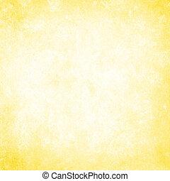 grunge, plano de fondo, amarillo