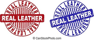 Grunge Real Leather rasguñó marcas redondas